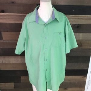 Marmot men's green short sleeve button up shirt
